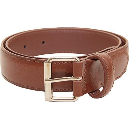 Classic Kids Belt - VANGELO Kid Classic Dress Belt Brown 20