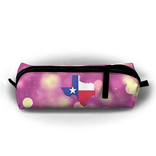 Flag Gel Pen - Mrshelp Texas Map Flag 3D Print Pencil Bag Fashion Pc Bag for Pens,Pencils,Highlighters,Gel Pen,Markers,Eraser and Other School Supplies Unisex