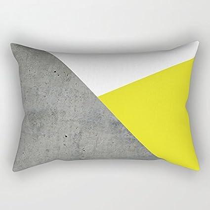 Concrete vs maíz amarillo Rectángulo fundas de cojín 40 x 60 ...