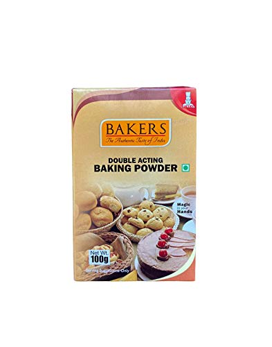 Bakers Double Acting Baking Powder 100 Grams (Pack of 3)
