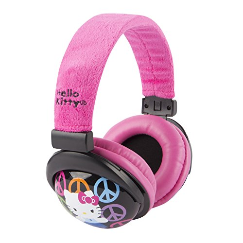 Hello Kitty 30309 Kid Safe Over the Ear Headphone with Volume Limiter by Sakar