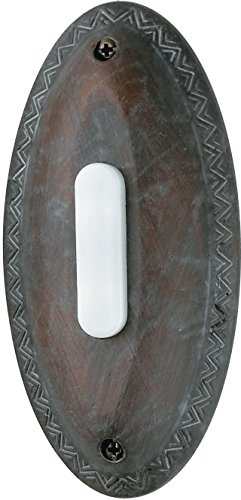 Designer Craftmade Doorbell - Craftmade BSOVL-RB Surface Mount Oval Lighted Push Button