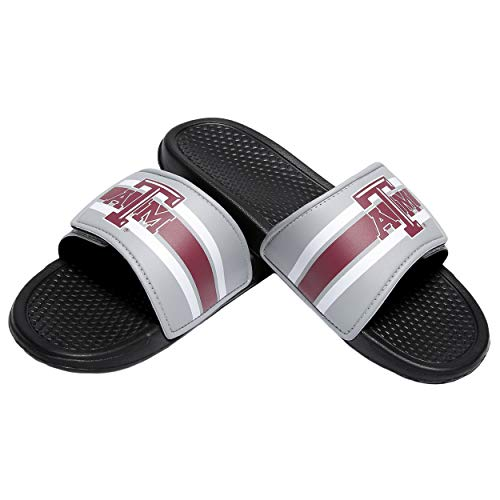 0f2fa58c32b FOCO NCAA Mens Legacy Stripe Sport Slide Flip Flop Sandals