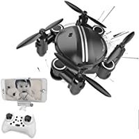 HP95(TM) Mini RC Quadcopter 2.4GHz 4CH 6-Axis Gyro 3D UFO Drone FPV WIFI Nano Camera (Black)