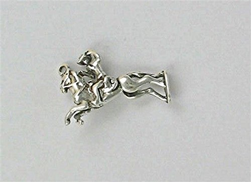 - Sterling Silver 3-D Movable Bronco Rider Charm Jewelry Making Supply, Pendant, Charms, Bracelet, DIY Crafting by Wholesale Charms