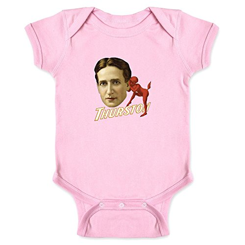 (Pop Threads Thurston The Great Magician Devil Whispering Pink 6M Infant Bodysuit)
