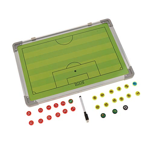DYNWAVE Portable Football Soccer Coaches Boards with Magnets & Marker Pen, Aluminum Writing Boards, Strategy Training Aids Equipment