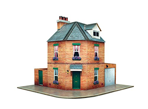 O Gauge 7mm 1:48 Scale Model Railroad Building Corner Row House Kit CityBuilder from The CityBuilder