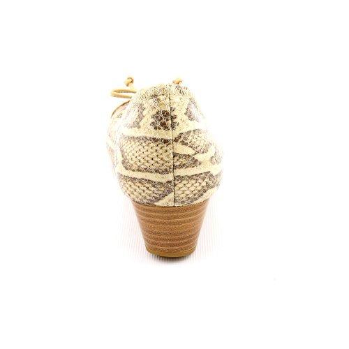 Cole Haan Air Tali Dentelle Wedge Crème Serpent Imprimé / Coin De Liège 9.5 B - Moyen