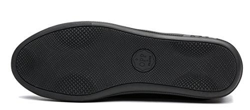 Scarpe Casual Da Uomo In Pelle Con Bretelle Opp. 6560-nero