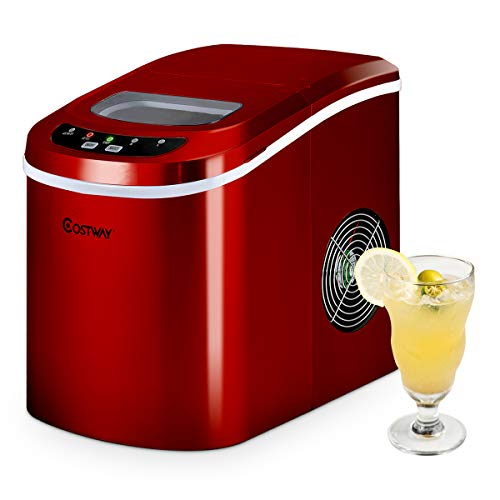 COSTWAY Ice Maker Machine, Portable Counter Top Electric Ice Machine,...