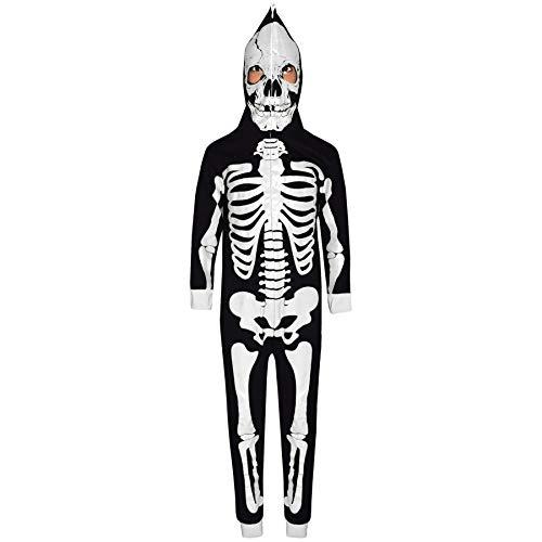 Kids Boys Girls Skeleton Print A2Z Onesie One Piece Halloween Costume 5-13 Year