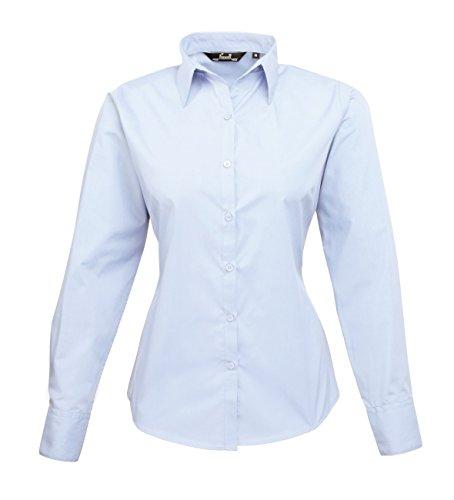 pw300Ladies Poplin Long Sleeve Camiseta (Blusa/Manga Larga) morado