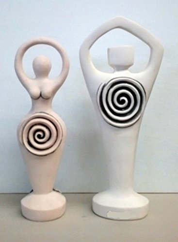 White Spiral Lord and Goddess Set (Goddess Statue Spiral)