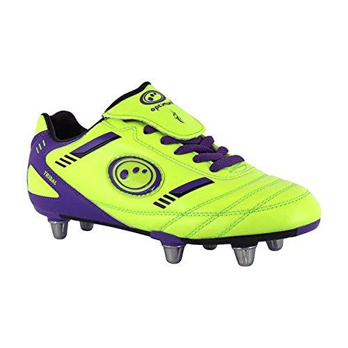 Optimum Jungen Tribal Boot-Velcro 6 Stud Fußballschuhe Black