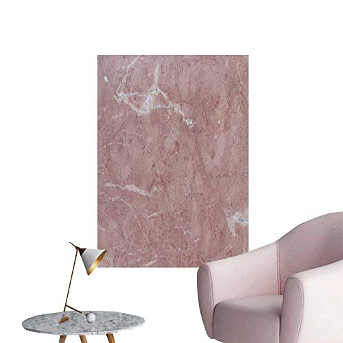 SeptSonne Wall Stickers for Living Room Rosso Tico Unique Beige Pink Almost Terracotta Marble Marble Texture Vinyl Wall Stickers Print,20