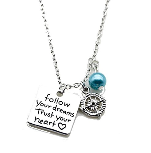 Charm Necklace Follow Your Dreams Trust Your Heart Pendant Keychain for - 5dollar Fashion