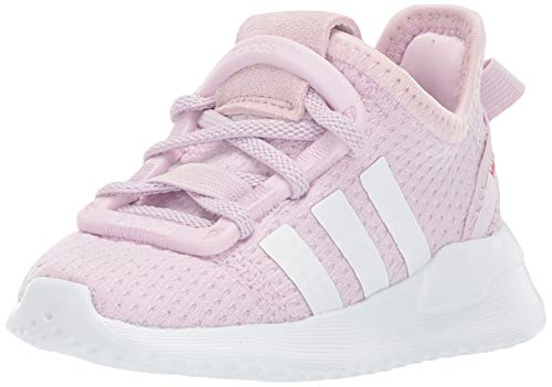 adidas Originals Unisex U_Path Run EL Shoe, aero Pink/White/Real Magenta, 13K M US Little Kid