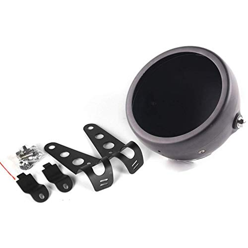 "Eagle Lights Meteor Headlight Bucket Housing for Motorcycles with 32MM to 40MM Fork Tubes (5 3/4"" Bucket, Black)"