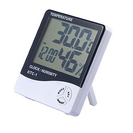 SODIAL Digital LCD Interior Habitacion exterior Temperatura electronica Humedad Medidor Termometro Higrometro Estacion meteorologica Despertador
