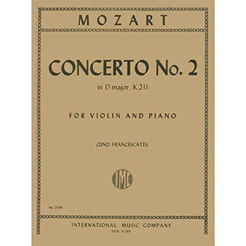 Mozart W.A. Concerto No. 2 In D Major K. 211 Violin and Piano by Zino Francescatti - International (No Mozart 2 Violin Concerto)