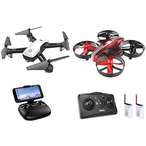 SANROCK U52 Drones for Kids with 1080P Camera + SANROCK GD65A Upgrade Mini Drones for kids