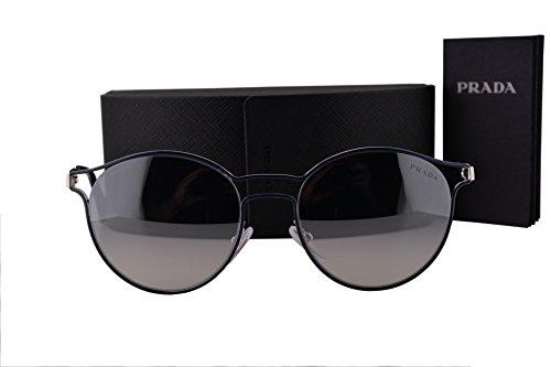 Prada PR62SS Cinema Sunglasses Blue Silver w/Blue Silver Mirror Lens TFM5R0 - Edition Sunglasses Prada Limited