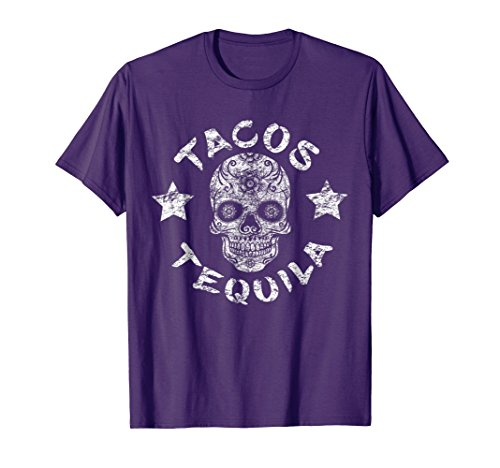 Day Of The Dead Tacos Tequila Sugar Skull Halloween Shirt
