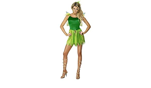 Disfraz de elfo para mujer verde S 36/38 de disfraz de hada para ...