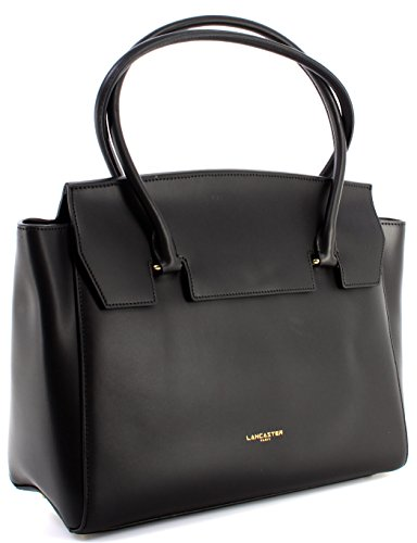 Borsa Donna Spalla LANCASTER Paris Noir Vachette Split Cow Leather Nera Nuova