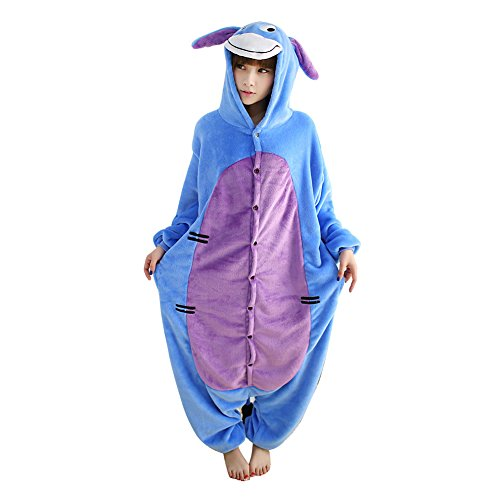 Janecrafts-New-Kigurumi-Pajamas-Anime-Cosplay-Costume-Unisex-Adult-Onesie-Dress-XL-Eeyore-Donkey