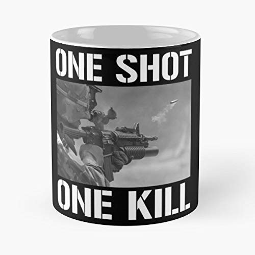 One Shot Kill Single Sharpshooter Sniper Funny Floral Coffee Mugs Gifts
