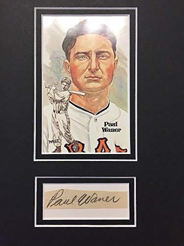 (Paul Waner Autographed Signed Memorabilia Signature Autograph Cut Matted With Postcard JSA Loa )