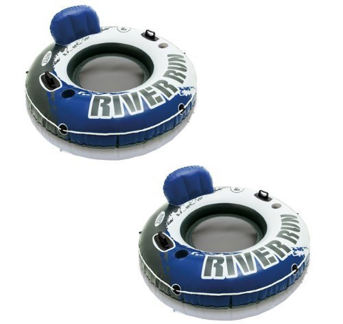 INTEX River Run I Inflatable Water Floating Tubes - 2 Pack