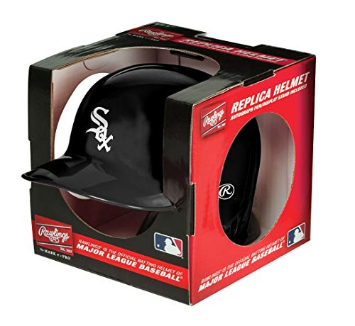 Rawlings MLB Chicago White Sox Mini Replica Helmet, - Helmet Sox Mini Baseball