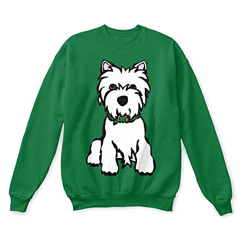 (Westie 2XL - Kelly green Sweatshirt - Hanes Unisex Crewneck Sweatshirt)