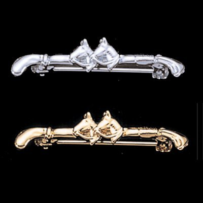 (Exselle Platinum Plated Crop with Two Horse Heads)