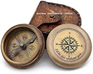 """Brass Compass as a Gift w/Scripture """"I WOULD BE LOST WITHOUT YOU """" w/Co"""