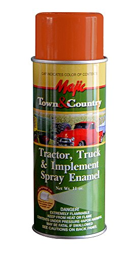- Majic Paints 8-20958-8 Tractor & Implement Spray Enamel Paint, Aerosol, Case Orange