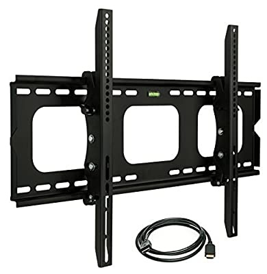 Mount-It Tilting TV Mount for 40 to 70-Inches Flat Panel TV with 6 ft HDMI CABLE