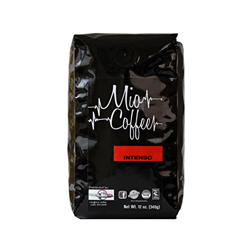Intenso Whole Bean - Mio MIOI12 Intenso Whole Bean Fresh Roasted Gourmet Espresso Coffee Beans 12 Ounces