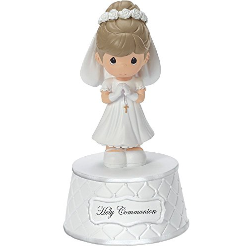 Precious Moments, Holy Communion Music Box, Plays: The Lord's Prayer, Resin, For Girl, -