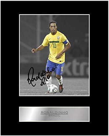 Ronaldinho Signed Pre Printed Autograph Photo Gift For a Brazil Fan