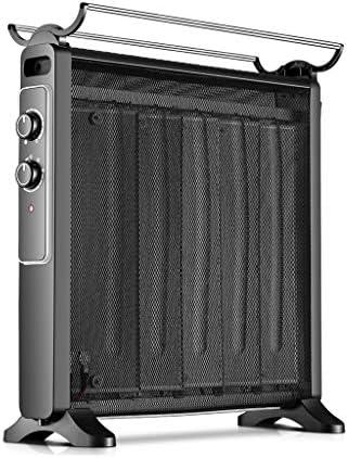 YD 電気ヒーター2200Wシリコン結晶対流ヒーター2電源設定過熱保護垂直黒 /&