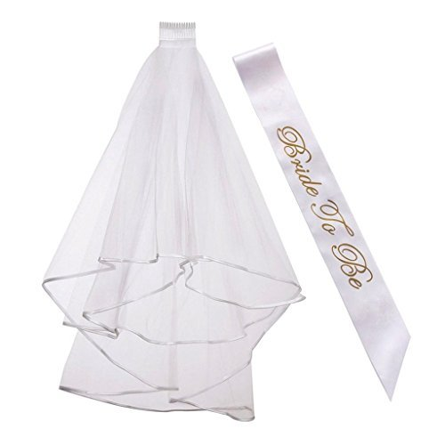 - Generic Bride to Be Sash Deluxe Wedding Shower for Hen Night Party Ladies Marry Dreams Fancy Dress Accessories,Bridal Shower Wedding Decorations Party Supply Accessory,White