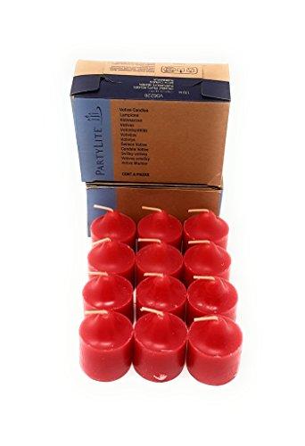 PartyLite Universal Scented Fruit Votives 1 Dozen (Crimson Berry)