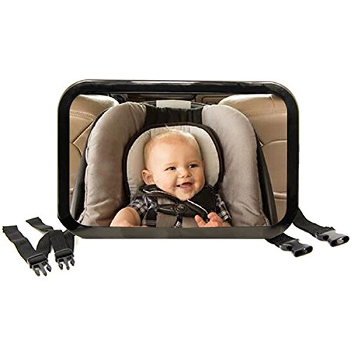 Tirol Baby Car Seat Mirror - Rear View Baby Mirror - Crash Tested and Certified for Safety For Rear Facing Car Seats,Essential Accessory For Travel