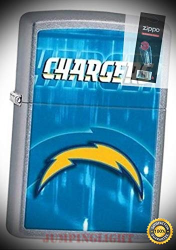 - 28591 San Diego Chargers NFL Lighter with Flint Pack - Premium Lighter Fluid (Comes Unfilled) - Made in USA!