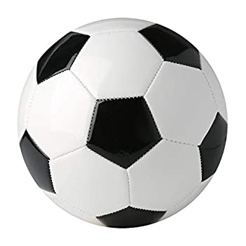 Yanen Conventional Soccer Ball for Coaching, Recreation, Apply, Excessive Efficiency, Traditional with Sizes 3,4,5 for Totally different Ages, Black and White