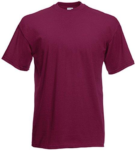 XL Fruit Of M Loom L XL XL shirt The T Léger XL Burgund S NvO08wmn